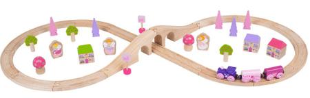 Bigjigs Rail Osmička pre princezné 40 dielov