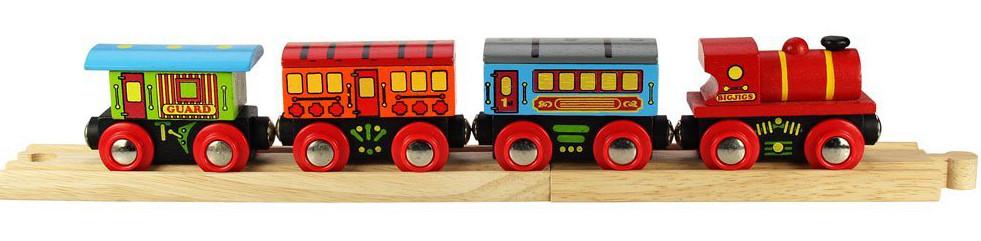 Bigjigs Rail Osobní vlak + 3 koleje