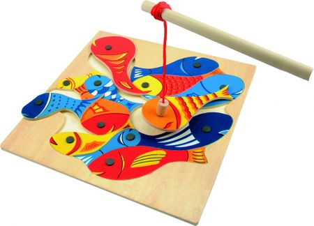 Woody magnetna igra Ribice