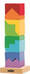 Woody Skládací věž barevná - hlavolam