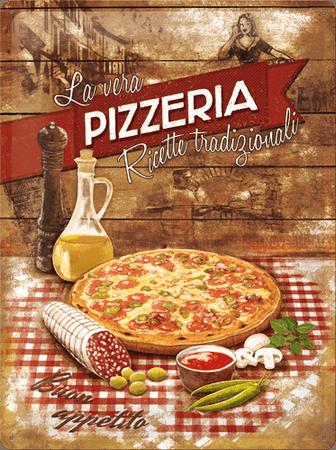 Postershop okrasna tabla La Vera Pizzeria 30 x 40 cm