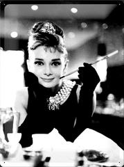 Postershop Plechová tabuľa 30x40 cm Audrey Hepburn