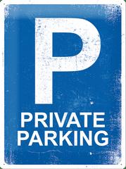 Postershop Plechová cedule 30x40 cm Private Parking