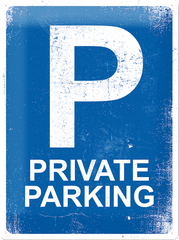 Postershop Plechová tabuľa 30x40 cm Private Parking