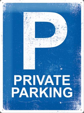Postershop Kovinska tabla 30x40 cm Private Parking