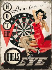 Postershop ukrasna pločica Bullseye 30 x 40 cm