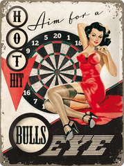 Postershop okrasna tabla Bullseye 30 x 40 cm