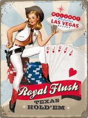 Postershop okrasna tabla Royal Flush 30 x 40 cm