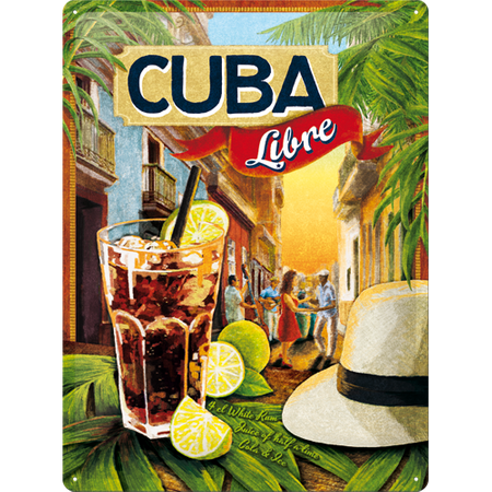 Postershop ukrasna pločica Cuba Libre 30 x 40 cm