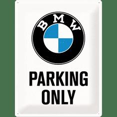 Postershop Plechová cedule 30x40 cm BMW Parking Only (bílá)
