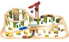 Bigjigs Rail Kolejka drewniana plan budowy 116 elementów