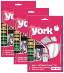 York Závesný vákuový vak s háčikom 60x90cm - set 3ks