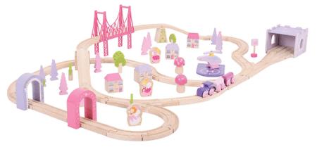Bigjigs Rail Zestaw kolejowy dla dziewczynek, Księżniczki