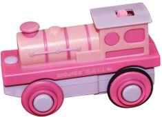 Bigjigs Rail Elektryczna lokomotywa na baterie - róż