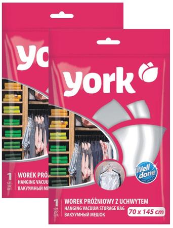 York Závěsný vakuový vak s háčkem 70x145cm - set 2ks