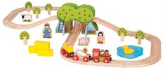 Bigjigs Rail Kolejka i farma, 49 elementów