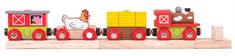 Bigjigs Rail Vláčik farma + 3 koľaje