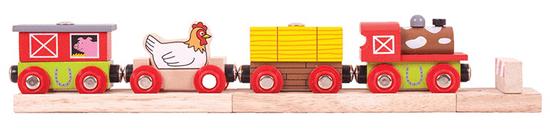Bigjigs Rail Vláček farma + 3 koleje