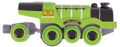 Bigjigs Rail Elektrická lokomotíva Flying Scotsman zelená