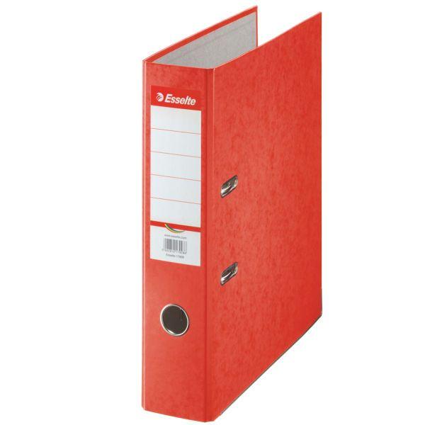 Pořadač pákový papírový Rainbow A4 7,5 cm červený