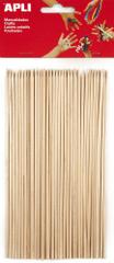 Špejle APLI přírodní 200x průměr 3 mm/50 ks