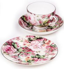 Maxwell & Williams Chintz Bone China Royal šálka, podšálka a dezertný tanier Rambling Rose