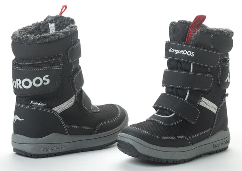 KangaROOS dětské sněhule Kanga - Tex 35 černá