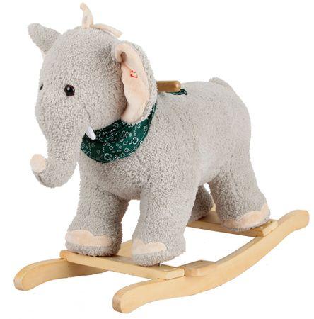 Alltoys Pluszowy słoń na biegunach