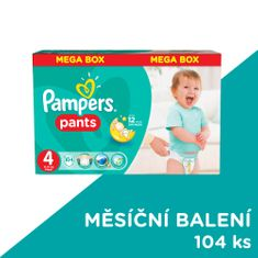 Pampers ActivePants 4 Maxi Mega Box 104 ks