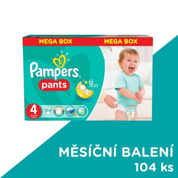 Pampers Plenkové kalhotky ActivePants 4 Maxi Mega Box 104 ks