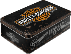 Postershop retro okrasna škatla Harley-Davidson
