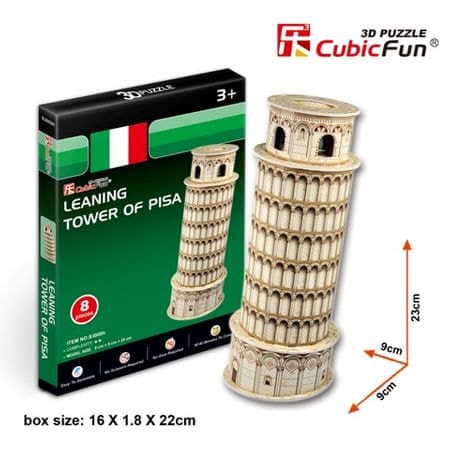 CubicFun Pisai ferde torony 3D Puzzle, 8 db