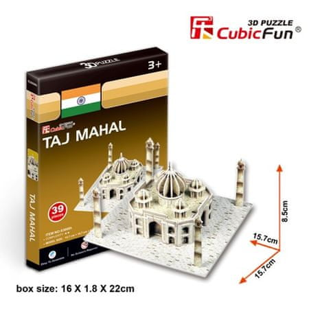 CubicFun Taj Mahal 3D Puzzle, 39 db