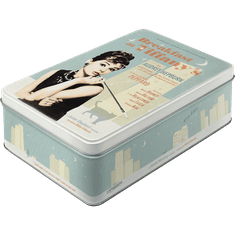 Postershop Retro dóza plochá Breakfast at Tiffanys 23x16x7cm