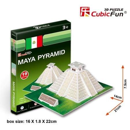 CubicFun Maya piramis 3D Puzzle, 19 db