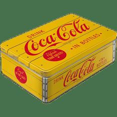 Postershop Puszka Retro Coca-Cola (żółte logo)