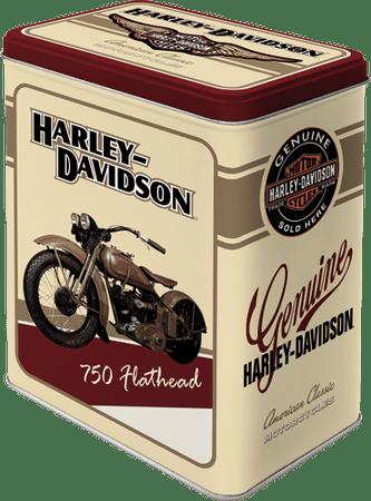 Postershop Retro pločevinasta škatla L Harley Davidson 10 x 14 x 20cm