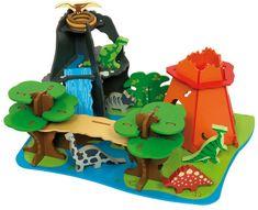 Bigjigs Toys Drewniana wyspa dinozaurów