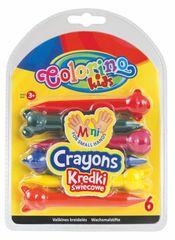 Pastelky voskové Colorino ANIMALS 6 barev Kids +3