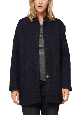 s.Oliver dámský kabát M tmavě modrá