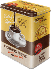 Postershop retro ukrasna kutija Morning Blend L
