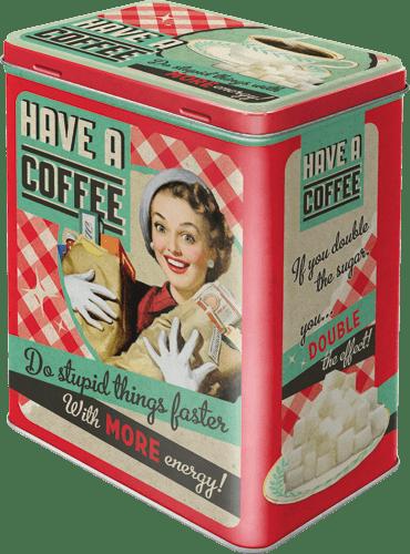 Postershop Retro dóza L Have a Coffee 10x14x20cm