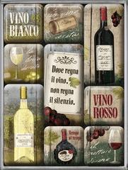 Postershop Zestaw magnesów Vino Rosso & Bianco