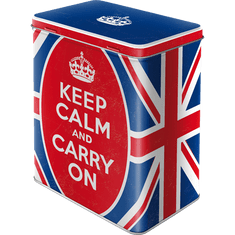 Postershop retro ukrasna kutija Keep Calm and Carry On L
