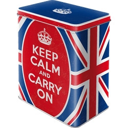 Postershop Retro dóza L Keep Calm and Carry On 10x14x20cm