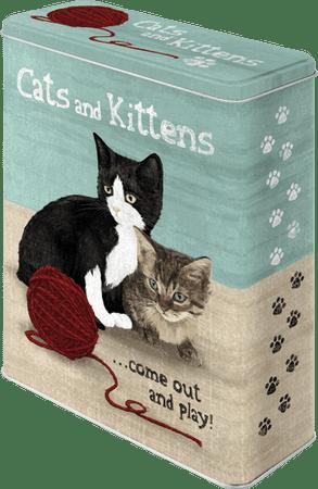 Postershop retro okrasna škatla Cats and Kittens XL