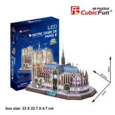 CubicFun Notre-Dame 3D LED Puzzle, 149 db