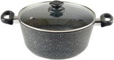 Top Alulit lonec s steklenim pokrovom Granit, 6 l