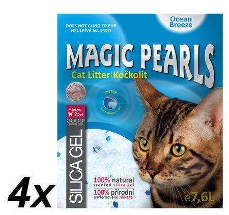 Magic posip za mačje stranišče Pearl Ocean Breeze 4 x 7,6 l