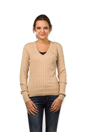 Gant pletený dámský svetr XL béžová